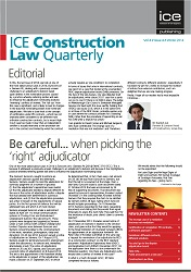 The Institution of Civil Engineers Construction Law Quarterly