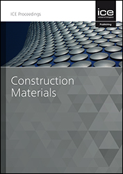 Proceedings of the Institution of Civil Engineers - Construction Materials