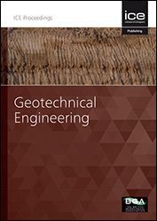 Proceedings of the Institution of Civil Engineers - Geotechnical Engineering